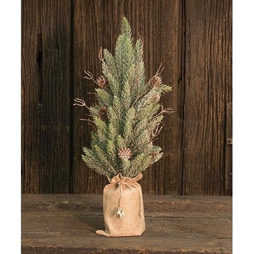 Heart of America Snowy Glitter Pine Tree In Gift Bag 18''