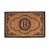 A1HC First Impression Hand Crafted Abrilina 36 in. x 72 in. Entry Coir Double Doormat Monogrammed (B)