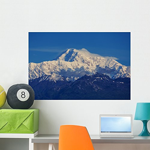 Denali Mckinley Wall Mural by Wallmonkeys Peel and Stick Graphic (36 in W x 24 in H) - National Clouds Denali Range Park