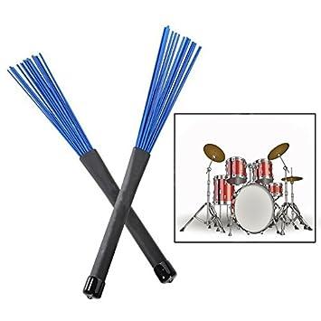 sgerste escobillas para bater/ía baquetas retr/áctil cepillos para Jazz Rock tambor 2/piezas