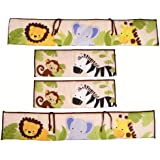 Bedtime Originals Jungle Buddies Bumper, Brown/Yellow