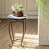 Giantex Mosaic Round Side Accent Table Patio