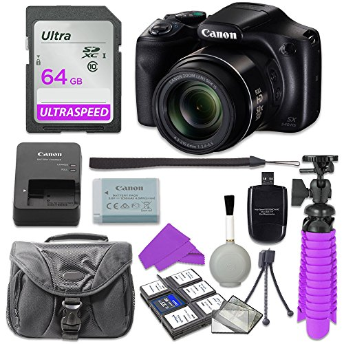 Canon PowerShot SX540 Digital Camera with 64GB SD Memory Card + Accessory Bundle