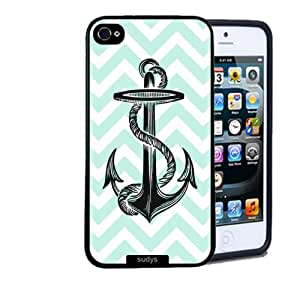 Iphone 5 5S Case Thinshell Case Protective Iphone 5 5S Case Shawnex Anchor On Mint Chevron