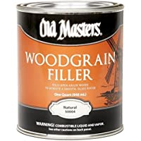 Old Masters Woodgrain Filler Natural Tone Quart Fills Open-Grain Woods by Old Masters