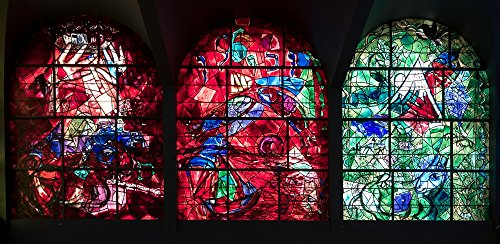Posterazzi Stained Glass Chagall Windows at Hadassah Medical Centre Jerusalem Israel Poster Print by Panoramic Images (24 x 12) Varies Chagall Stained Glass Windows