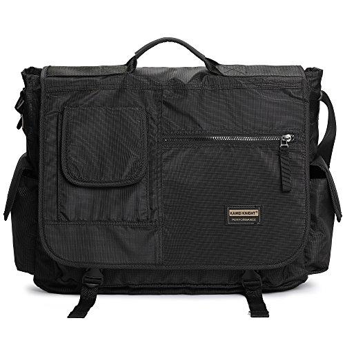 Large Messenger Bag, 17.3 Laptop Bag Crossbody Shoulder Tote Bag Office Briefcase Book Bag fit Computer Tablet for Travel Business Trip Working Men Women(Black)