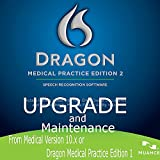 Nuance Dragon Medical Practice Edition 2, Upgrade ONLY from Medical 10.x or DMPE 1.x - License Upgrade Only - Retail Box with 1 Year Maintenance Included