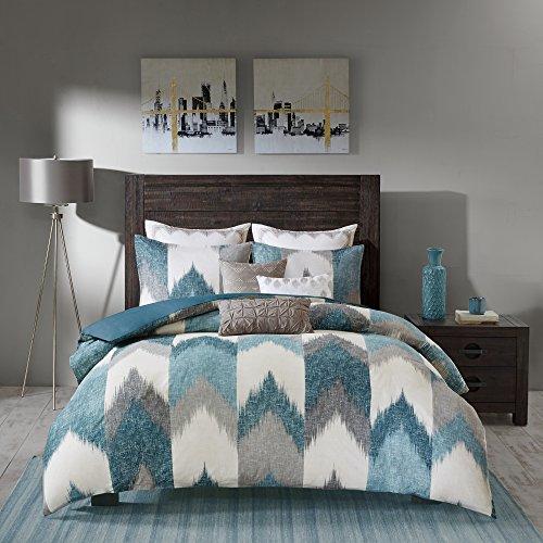 INK+IVY Alpine Cotton Comforter Set-Modern Cabin Lodge Chevron Design All Season Down Alternative Cozy Bedding with…