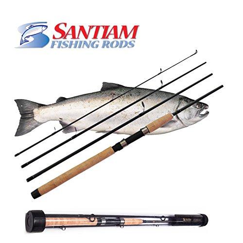 Santiam fishing rods travel rod 4 piece 8 39 6 39 39 6 12lb mf for Fishing rod price