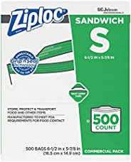 Ziploc Sandwich Bags, Easy Open Tabs, 500 Count