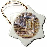 3dRose Danita Delimont - Spain - Spain, Andalusia, Seville. Plaza de Espana ornately decorated. - 3 inch Snowflake Porcelain Ornament (orn_277899_1)