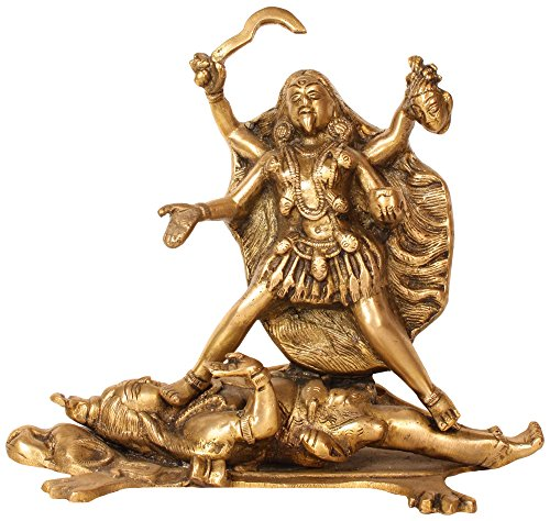 Used, Statue of Goddess Kali Hindu Art Religious Decor; Brass; for sale  Delivered anywhere in USA