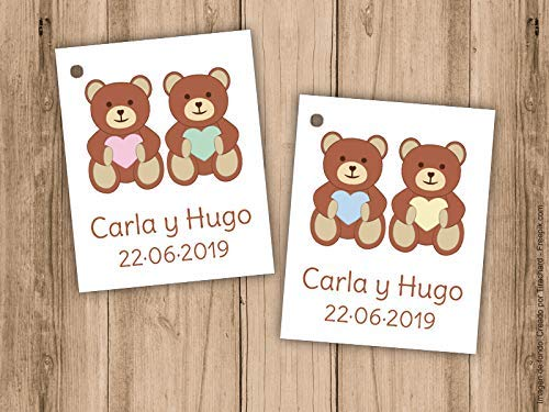 Detalles Bautizo Gemelos.Etiqueta Para Detalle De Bautizo O Baby Shower Para Gemelos