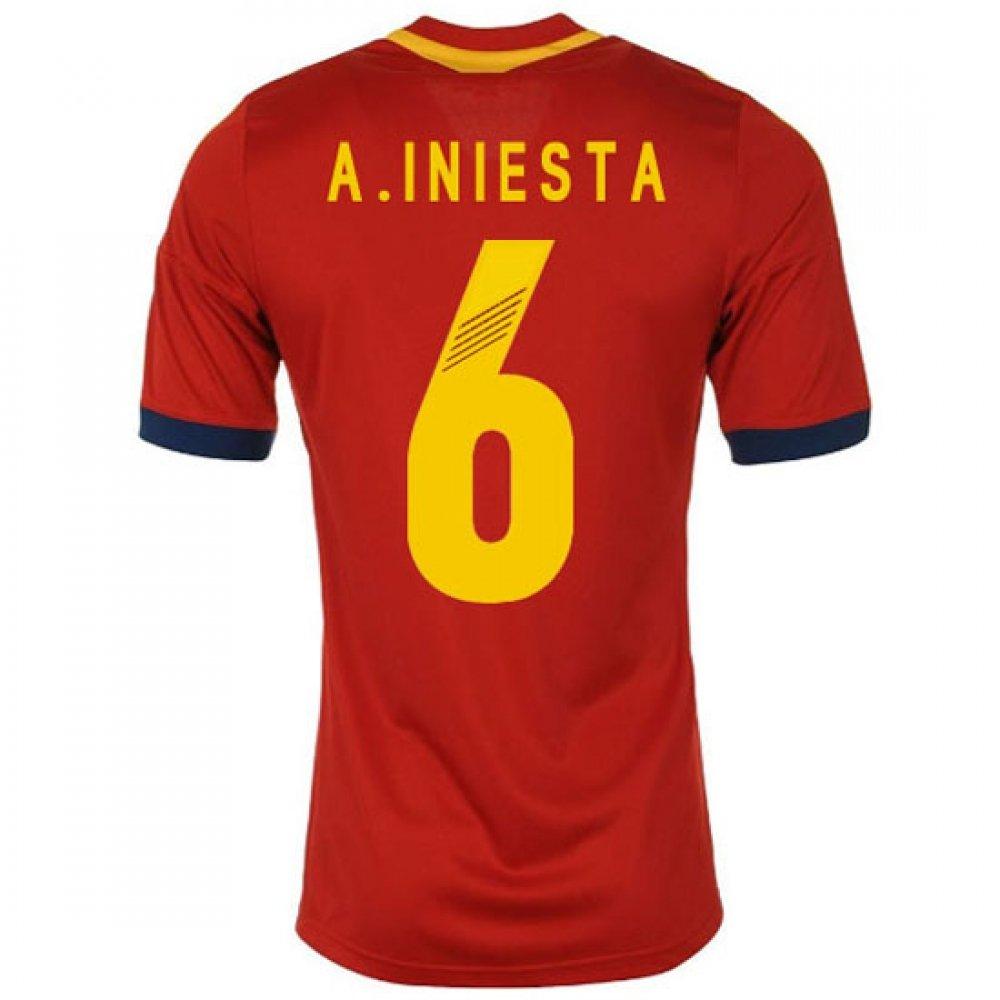 2013 - 14 de España Adidas Home camiseta de fútbol: Amazon.es: Deportes y aire libre