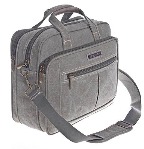 Laptop bolsa, de hasta 15pulgadas, hombre Canvas Señor–Bolso de hombro Bandolera Messenger Bag Sport verde oliva