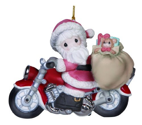 """- Precious Moments, Holiday Delivery"""", Bisque Porcelain Ornament, 141036"""