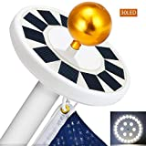 COOVIE Flagpole Solar Light 30LED Downlight Lighting for 15 to 25 Ft Flag Pole Topper, Auto On/Off Night Light