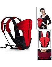 HJ® Baby-und Kindertrage Comfort Babytrage Bauch- und Rücken- 3.6-9.1KG 3-18 Monate Hochrot
