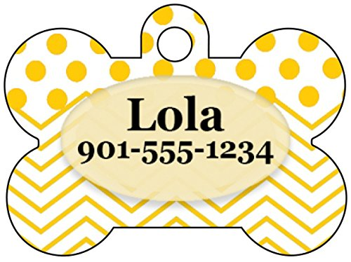 colorful-polka-dot-chevron-dog-tag-pet-id-tag-personalized-w-name-number-yellow