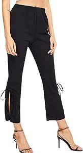 Pantalón corto de talle alto para mujer, con cordones laterales ...