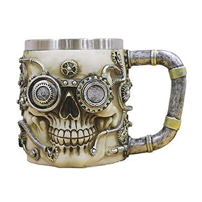 Skull Beer Mugs Viking 3D Stainless Steel Mug 301-400ml Coffee Tea Cup Bar Cups