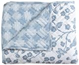 Stylemaster Home Products Twill and Birch Botanica Quilted Reversible Bedspread, King, Mist