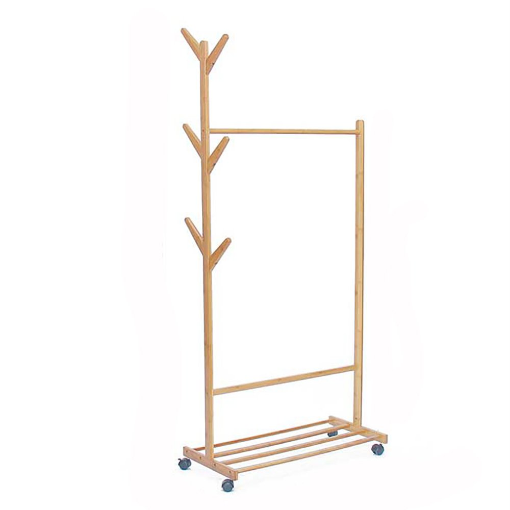 60CM XJRHB Movable Coat Rack Solid Wood Hanger (Available in A Variety of Sizes) (Size   60CM)