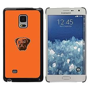 Caucho caso de Shell duro de la cubierta de accesorios de protección BY RAYDREAMMM - Samsung Galaxy Mega 5.8 - Bulldog fresca enojado