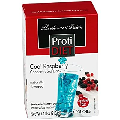 Proti Diet Cool Raspberry Concentrated Drink Mix (7 Pouches) Aspartame Free