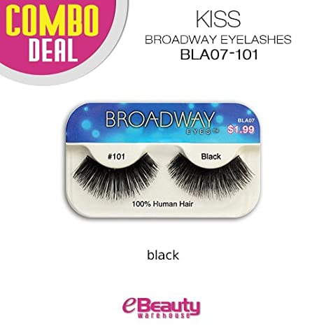 03b7ee853d9 Amazon.com : Kiss Broadway Eyelashes Combo Deal 6-Packs (BLA08) : Beauty