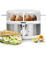 Duronic EB35 Cocedor de Huevos Eléctrico con Capacidad de 1 a 7 Huevos Cocidos, Duros, Mollet y Pasados por Agua, 2 Tipos de Huevos a la Vez