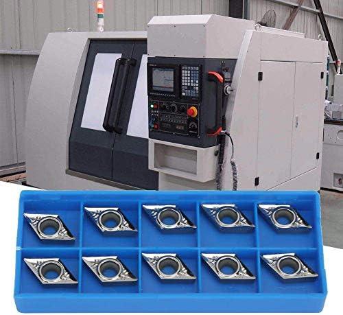 WXQ-XQ 挿入ブレードカッター、10個入りCNC挿入ブレードカッター旋盤は、T21348と木工スパイラルヘリカルプレーナーヘッドのためのツールDCGT11T304-K H01 / DCGT32.51-K H01を回します