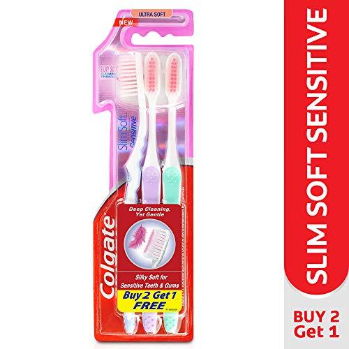 Pack Of 3 Colgate Sensitive Slimsoft Ultrasoft Toothbrush Tooth Brush