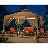 Sunjoy 10'x10'Softtop Steel Gazebo with Netting