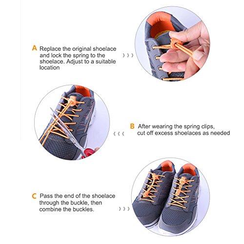 Adultos Blanco Cordones Triatlón 6 Maratón Bloqueo De Corbata Naranja Con Leezo Sistema Disponibles Elásticos Y Colores Niños Para Sin PxTw7A