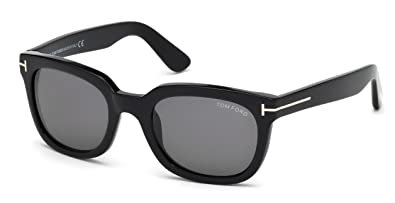 164975f17ef2 Image Unavailable. Image not available for. Color  Tom Ford TF 198 01A  CAMPBELL BLACK Sunglasses ...