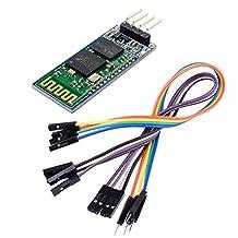 Kuman K35 HC-06 Bluetooth Wireless Serial 4 Pin Bluetooth RF Transceiver Module RS232 EK1147 to UART Converter COM Serial Communication Slave Mode