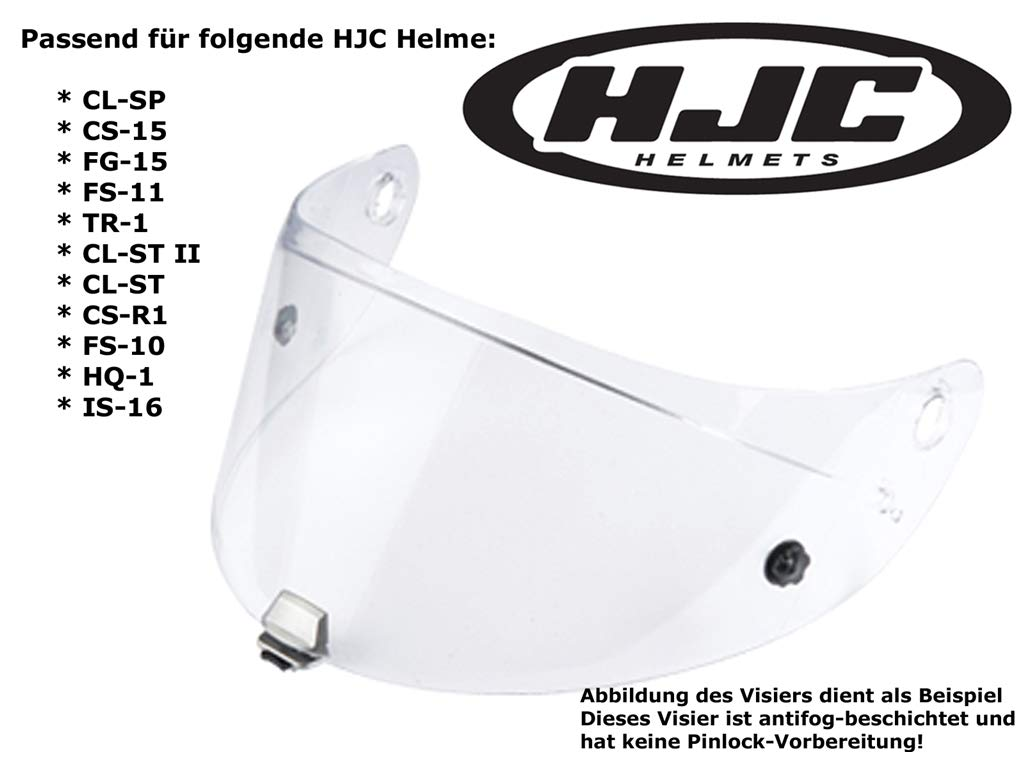 da4a18c3 HJC Helmets Clear Shield Anti-fog Visor Hj-09 / Ac-12, Cl-15, Cl-16, Cl-sp,  Cs-r1, Cs-r2, Fs-10, Fs-15, Fg-15, Is-16, Cl-17: Amazon.co.uk: Car &  Motorbike
