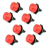 Wobe 100pcs Adjustable Irrigation Drippers, 360