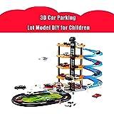 AUTOLOVER Garage Play Set ,3D Car Parking Garage DIY Model Assembly Garage Set Toy for Children