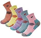 5Pack Women's Mid Cushion Low Cut Hiking/Camping/Performance Socks 5Pair Assortment Color Medium