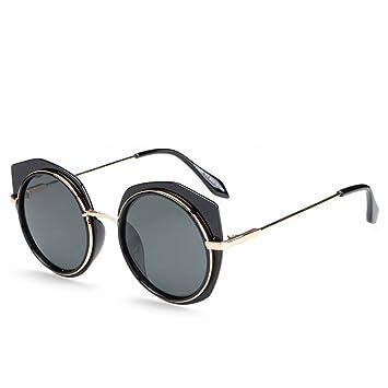 GUOHONG-CX Gafas De Sol De Moda Ronda Metal Casual Irregular Borders Pareja Gafas  De Sol Trend Madera Grano Película De Color Irregular Large Frame ... c98937d760e0