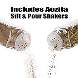 Aozita 24 Pcs Glass Spice Jars/Bottles - 4oz