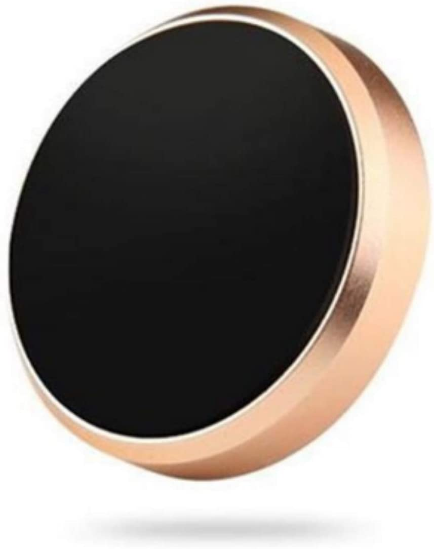 Gold Universal Magnetic Car Mount Ultra Slim Stick-on Dashboard Holder Fit All Cell Phone Sizes and Mobile Devices Samsung LG Pixel More