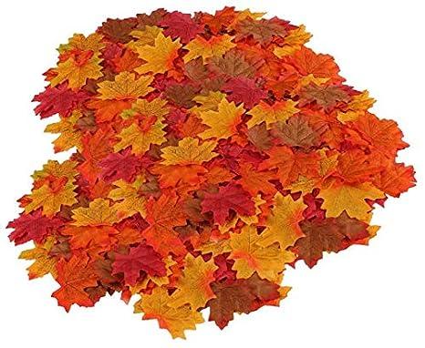 Decorazioni Autunnali Per La Casa : Funhoo 500 pezzi artificiale autunno cadono foglie d acero per arte