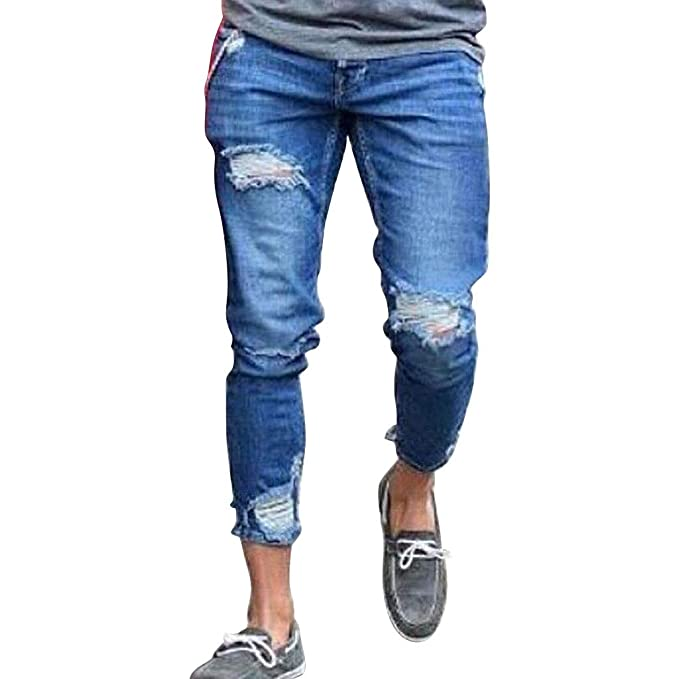 VPASS Pantalones Vaqueros para Hombre, Casuales Moda ...