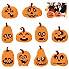 TOYMYTOY Halloween Pumpkin Sticker Halloween Sticker Sheets Trick or Treat Party Decoration DIY Pumpkin Shaped Stickers 20Pcs Face Expression Stickers 40Pcs