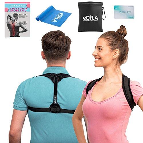Posture Corrector Brace for Women Men and Kids - Wearable Underclothes & Adjustable Clavicle Support Upper Back Neck Pain Relief - Shoulder Hunch Back Postural Correction (Model 9) by eDILA