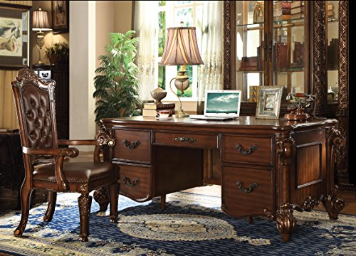 ACME Vendome Cherry Executive Desk ()
